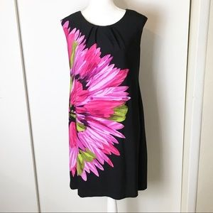 Studio by  London Times Black Dress with Flowers 8